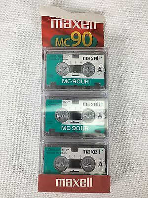 3 Maxell (MC90) Normal Position Microcassette TapeNEW