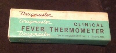 """Vintage """"Drugmaster"""" Clinical Fever Thermometer in original box w/instructions"""