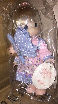"""Precious Moments Porcelain Doll Girl w/doll """"Toddler, Always My Little Girl"""" NEW"""