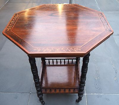 Antique Flame Mahogany Octagonal Table