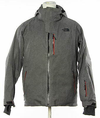 Men's THE NORTH FACE Gray Long Sleeve Stratos Waterproof Jacket Size Large