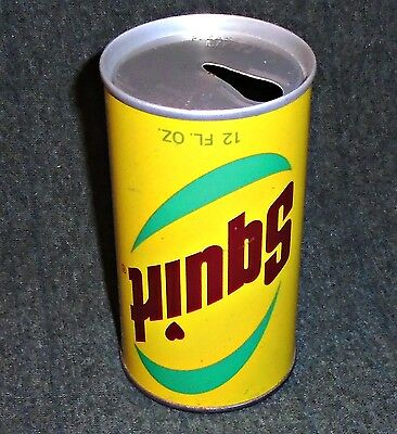 RARE Vintage Up Side Down 1960's Squirt Soda Can, All original!!