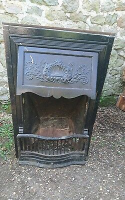 Antique Victorian Cast Iron Small/bedroom  Fireplace