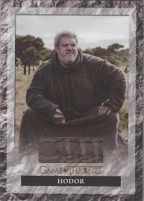 "Game of Thrones Season 6 - S6R2 ""Hodor's Shirt"" Relic Card"