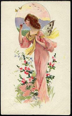 *Vintage Art Deco Glamour  PPC 1913 - The Maiden With Butterfly Wings