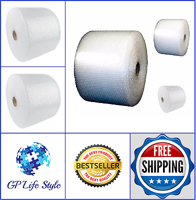 """Bubble + Wrap 1/2"""" 250 ft x12"""" Large Padding Perforated Moving Shipping Roll New"""