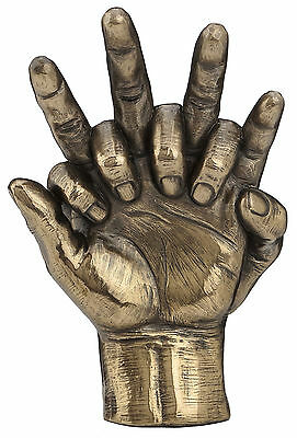 Soulmates Lovers Hands Entwined Statue Sculpture Figurine Bronze Finish Art