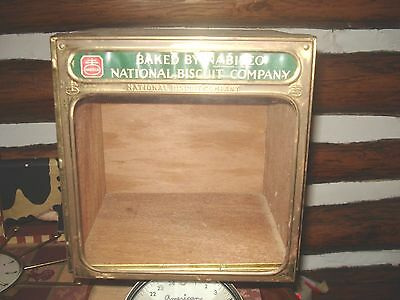 Vtg Nabisco National Biscuit Company Wood & Tin BOX Advertising Display
