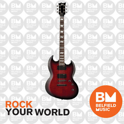 ESP LTD Viper VP-330 Electric Guitar SG See Thru Black Cherry Sunburst - BM