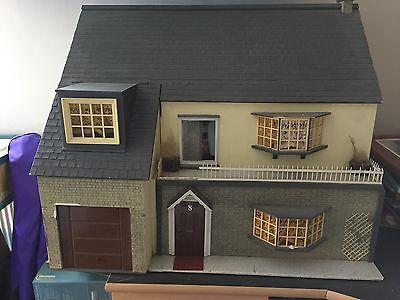 Hand Made Dolls House With A lot Of Furniture