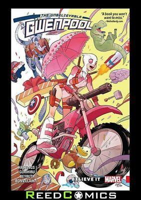 UNBELIEVABLE GWENPOOL VOLUME 1 BELIEVE IT GRAPHIC NOVEL New Paperback