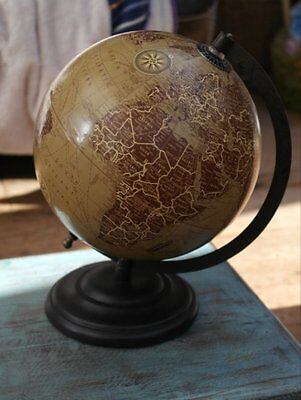 Vintage style 20cm diameter globe on stand