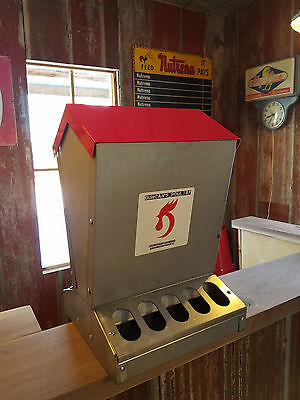 Duncan's Poultry 55 Lb High Capacity Chicken  Feeder Hinged Lid  - Made in USA