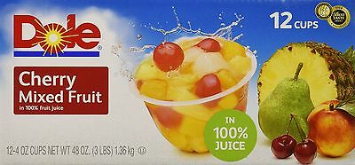 Dole Cherry Mixed Fruit 4 Ounce (Pack of 12)