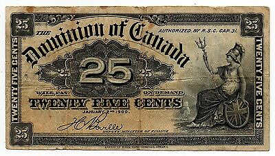1900 Dominion of Canada - 25 Cent Bank Note (Boville)