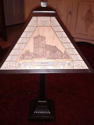 Hand made,unusual,rare lamp,Abertridwr scenes,13/100,18ct gold engraving,gwo