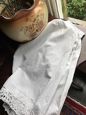 Absolutely Stunning Antique French handmade lace trim culottes bloomers monogram