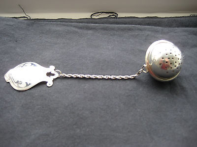 Russian  Silver Tea Infuser Ball & Medallion Marked Bacy & 925