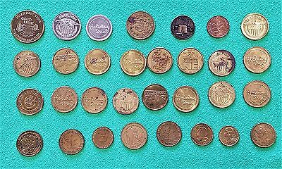 Very Nice Mixed Lot Of 31 Vintage Tokens And Coins !!!