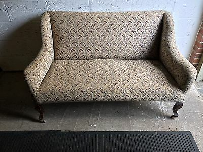 Vintage pretty wood framed 2 seat Sofa