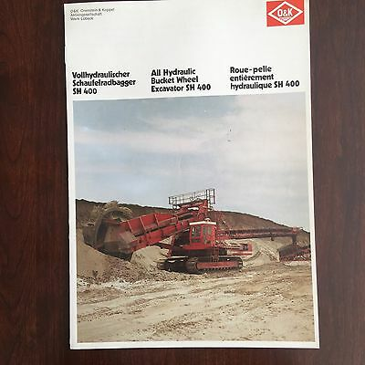 O&K BWE Bucket Wheel Excavator - Vintage Mining Equipment Brochure Specs 1976
