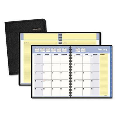 At-A-Glance 76-08-05 Quicknotes Monthly Planner, 6 7/8 X 8 3/4, Black, (760805)