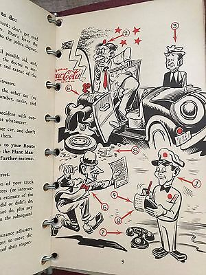 Vintage Original 1949 Coca Cola Salesmen Illustrated By Jack Davis Route book