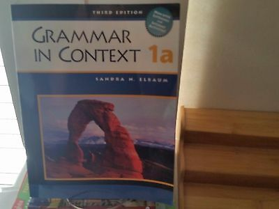 Grammar in Context 1A THIRD Edition  by ELBAUM 2003, Paperback