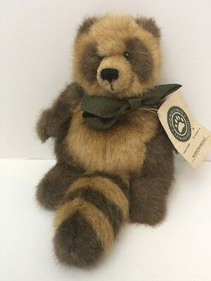 """Retired BOYDS BEARS Plush Beanie Jointed 8"""" BANDIT BUSHYTAIL The RACCOON w/Tag"""