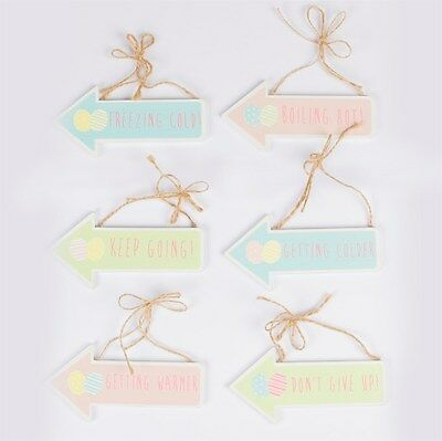2e916b2f11db Sass   Belle PASTEL EASTER EGG HUNT DIRECTIONS SIGN ASSORTED Set of 6 Six  Pink