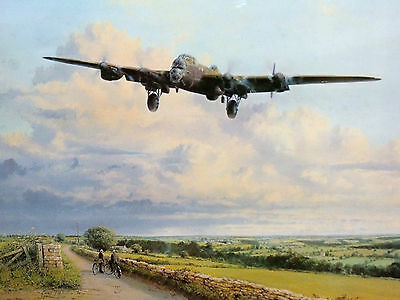MILITARY PRINT ROBERT TAYLOR WW2 EARLY MORNING ARRIVAL COLERNE LTD ED SIGNED x10