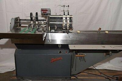 Rosback Stitcher 201A bookletmaker with counter and  2 DeluxeStitcherM2000 heads