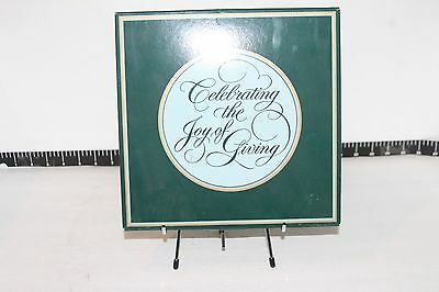 Celebrating the Joy of Giving Avon Fourth Edition 1984 DecorativeChristmas Plate