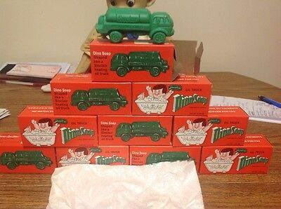 LOT OF 10 1950s SINCLAIR TRUCK ADVERTISTING DINO SOAP IN ORIGINAL BOX