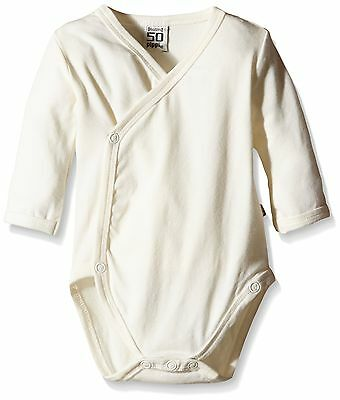 (TG. 74) Pippi - Wrap-around Body Ls-solid, Body unisex bimbi, Off-White, (P6w)