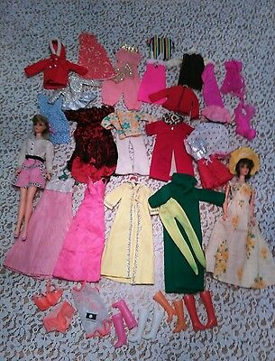 Huge vintage tnt Mod Barbie lot  full of clothing and accessories