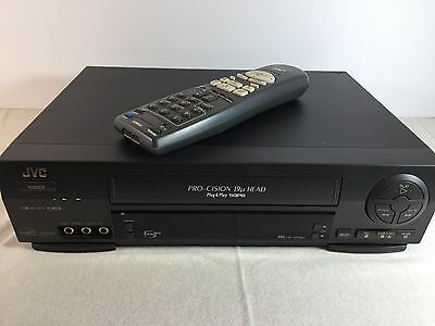 JVC HR-VP58U 4 Head HQ Stereo VHS Player Recorder With Universal Remote