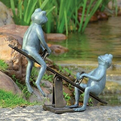 Playground Days Frog Garden Sculpture Statue Yard Pond Pool Decor