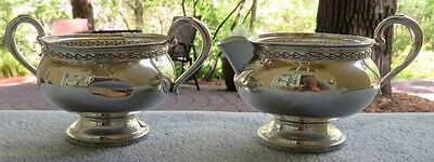 Fisher Sterling Silver Creamer and Sugar Bowl Set