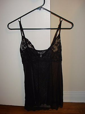 Frederick's of Hollywood Sheer Nightie - black - size Large