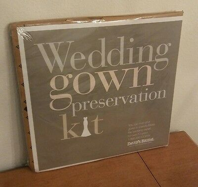 David's Bridal Wedding Gown Preservation Kit, NEW