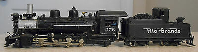 UNITED HOn3 SCALE PAINTED BRASS D & RGW K-28 ENGINE & TENDER--ROAD #476