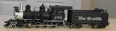 WESTSIDE MODEL CO. HOn3 PAINTED BRASS D & RGW CLASS C-16 ENGINE & TENDER--#278