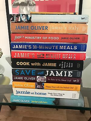 Jamie Oliver Collection 12 Cook Book Cookbooks With 2 X Jamie's Autograph