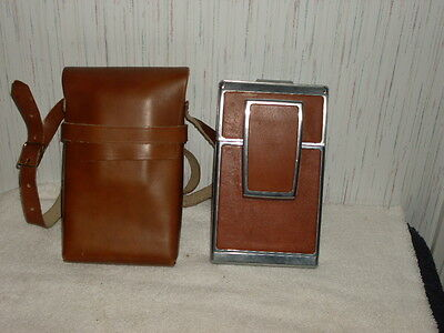 Vintage Polaroid Alpha 1 SX 70 land camera with leather carrying case