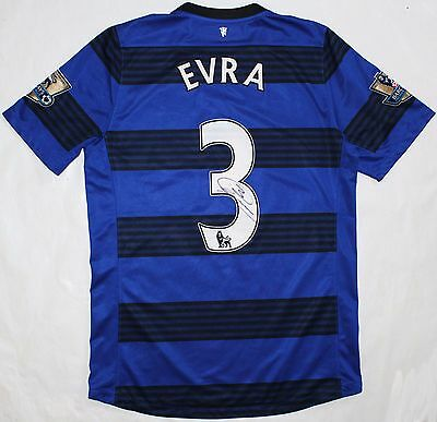 Patrice Evra Match Worn Signed Shirt - Manchester United 2011/12 Away Jersey
