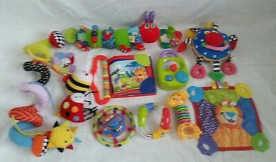 Baby Toy Bundle - Rattles - Teethers - Sensory -  Bright Starts - Nuby + more