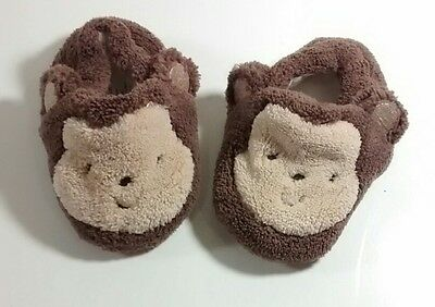 Carter's �� Monkey �� Slippers Shoes NB-3m Baby Boy Or Girl