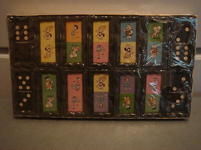 Vintage Toy The Flintstones Picture Dominoes Set Game