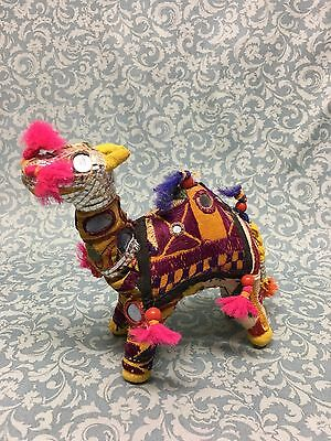 "Vintage hand made Embroidered Camel Made In India 6"" tall"